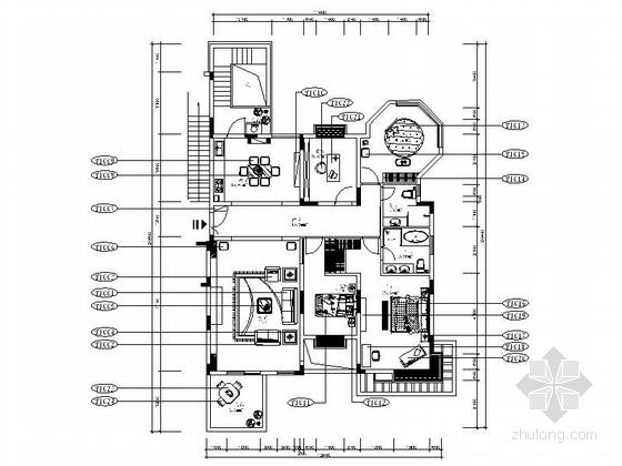 [深圳]双层别墅田园风格室内装修图(含效果图)