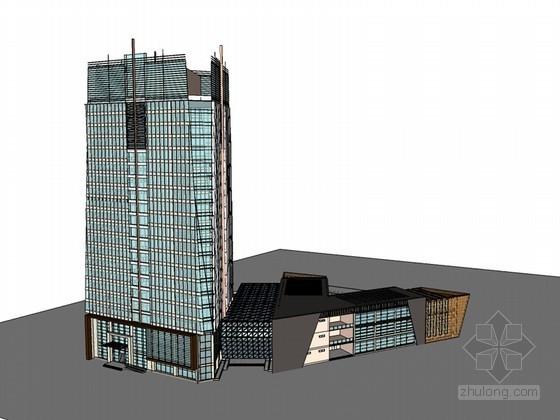 大气建筑SketchUp模型下载-大气建筑