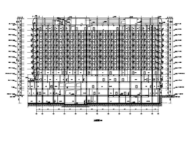 [江苏]高层市级圆弧外观康复疗养院改建建筑施工图-高层市级圆弧外观康复疗养院改建建筑