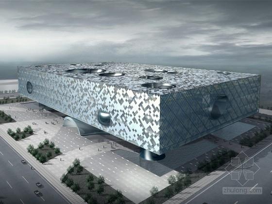 [北京]大型展览馆建筑设计方案文本(含CAD)