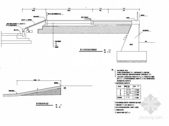 桥头人行道接坡设计图CAD
