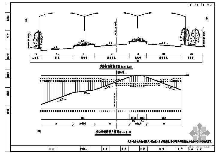 郑东新区某环路道路工程施工图设计