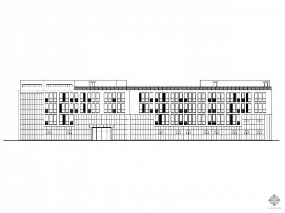 [南京]某机场四层飞行员公寓楼建筑施工图