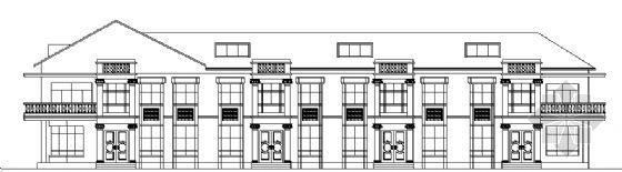 某四户联立式高级住宅建筑方案图