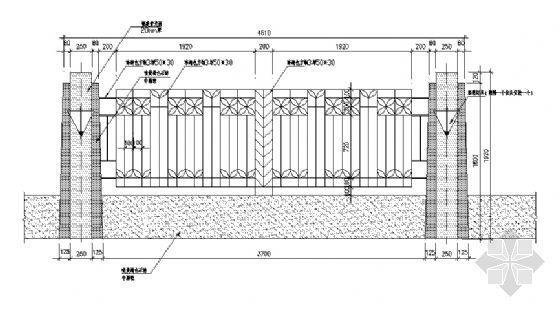 小区围墙详图