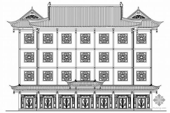某仿古四层民族陈列馆建筑施工图