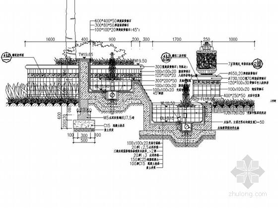 [东莞]居住区主入口水景设计施工图-图5