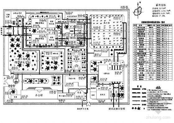某自来水厂工程课程设计高程图及平面图