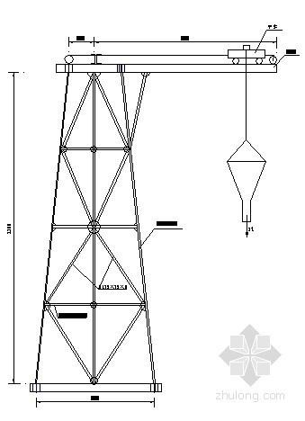 桥梁混凝土浇筑专用工作架图