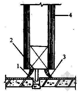 折叠式隔断下部装置示意