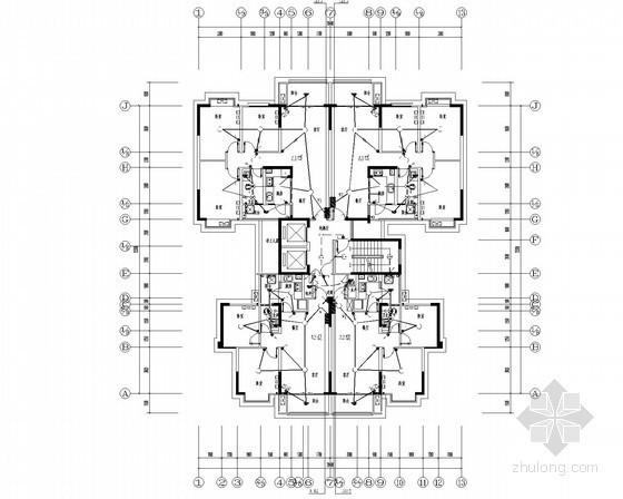 [四川]二类普通高层住宅电气施工图纸