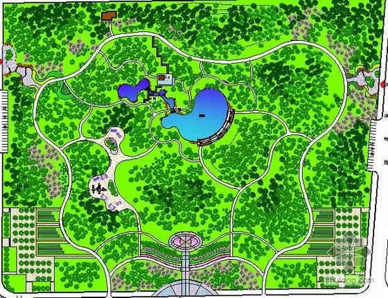 长春市区级公园施工图全套