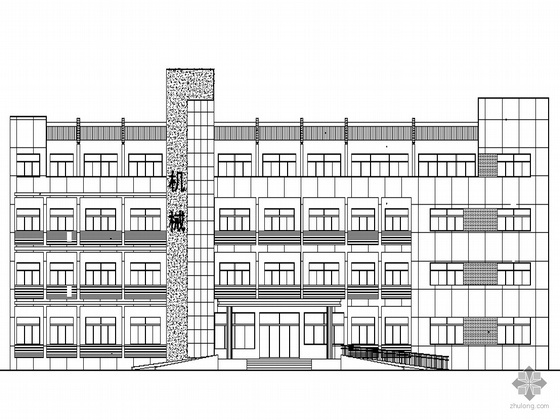 [苏州吴江市]某地区五层厂房办公综合楼建筑施工套图(含节能设计)