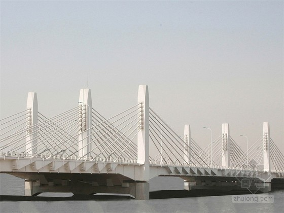 三跨连续四索面埃塔斜拉桥全套施工方案(深基坑施工 水中现浇箱梁支架基础)