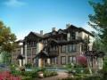 三层别墅建筑3D模型下载