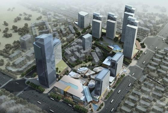 [武汉]超高层一梯四户塔式花园住宅楼建筑设计方案文本(含两套方案)