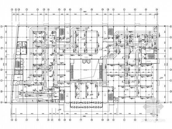[北京]建材城暖通空调设计施工图纸(水源热泵)