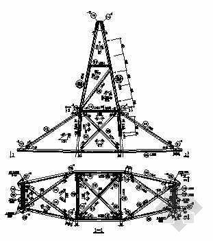 7717含加高的铁塔全套结构图纸