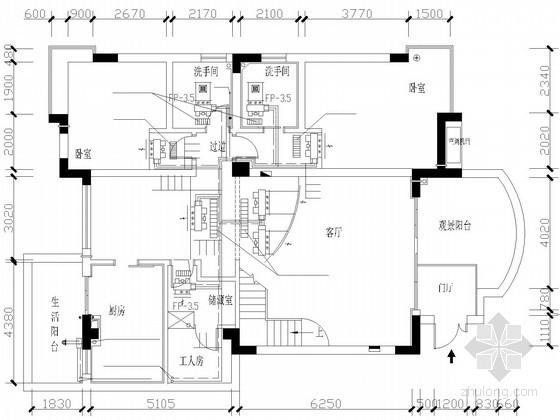 某住宅户式中央空调设计方案图
