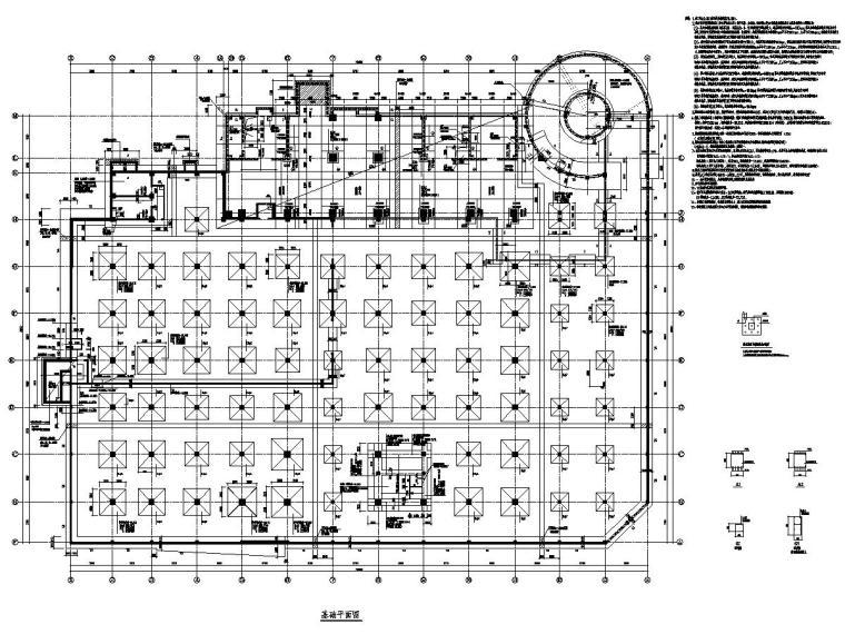 [河北]地上23层框架剪力墙结构综合楼结构施工图(地下三层)