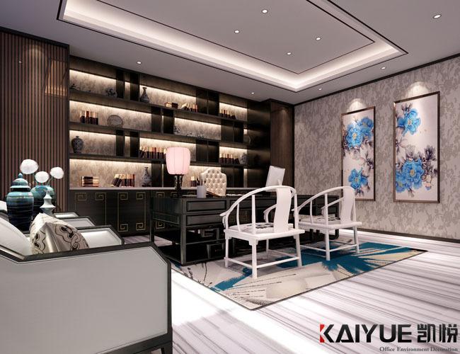 中式风格办公室装修设计-美时美刻生物科技_5