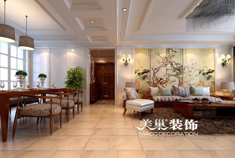 正商铂钻12万打造175平装修,自然舒适美式四居室
