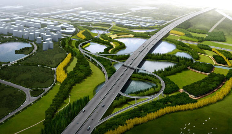 """[江苏]""""城市花窗""""城市道路景观设计方案"""