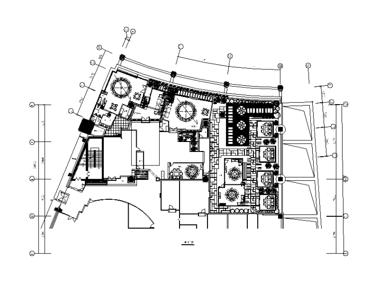 混搭风格茶餐厅设计CAD施工图(含效果图)