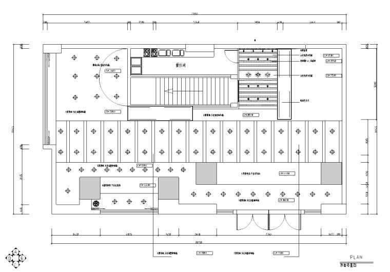 inWe因味茶梅龙镇广场资料下载-[浙江]华盟商务广场茶餐厅室内设计施工图