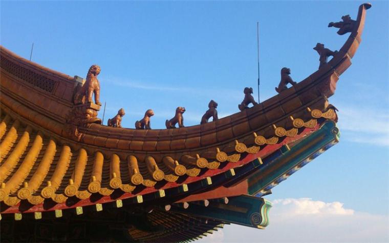 中国建筑八大元素组成的赏心悦目