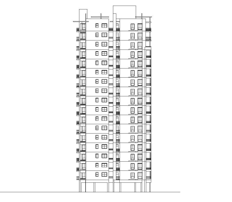 [广东]中信东泰小区全套建筑方案CAD