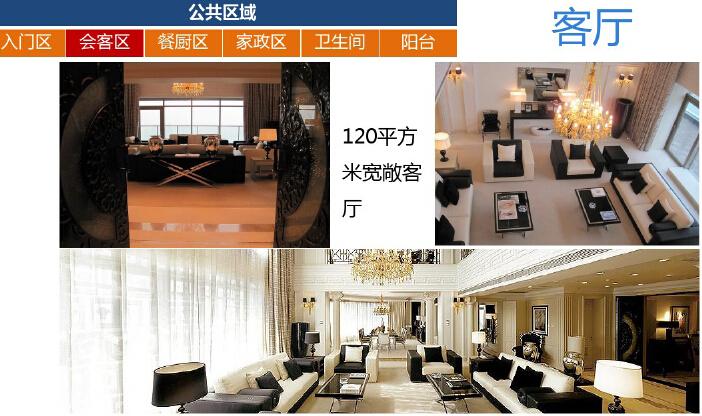 高层住宅楼户型房间功能设计研究(图文并茂)-客厅