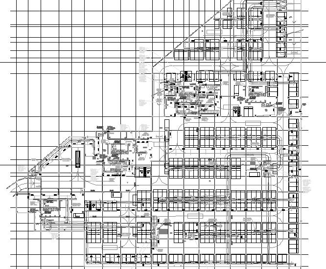 [广东]高层商住楼空调通风防排烟系统设计施工图(机房设计)