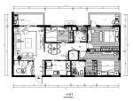 【福建】新中式样板房设计施工图(含效果图)