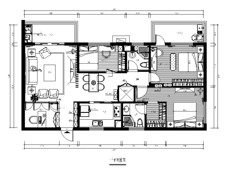 [福建]新中式样板房设计施工图(含效果图)