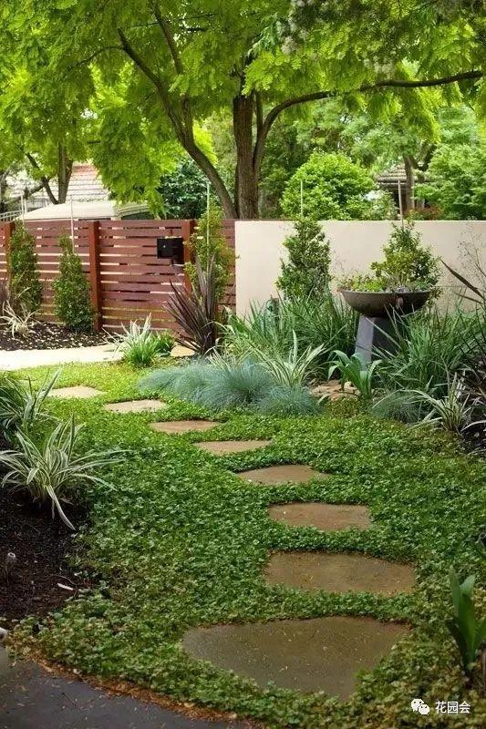 花草与石板的关系•花园小径_9