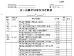 设计总体总包单位月考核单
