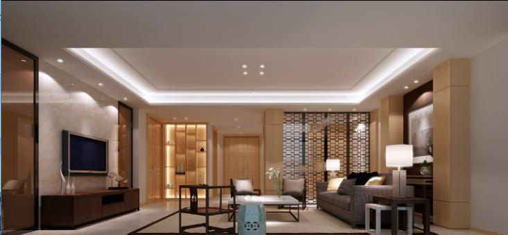 某中式建欧别墅室内装修设计施工图及效果图_8