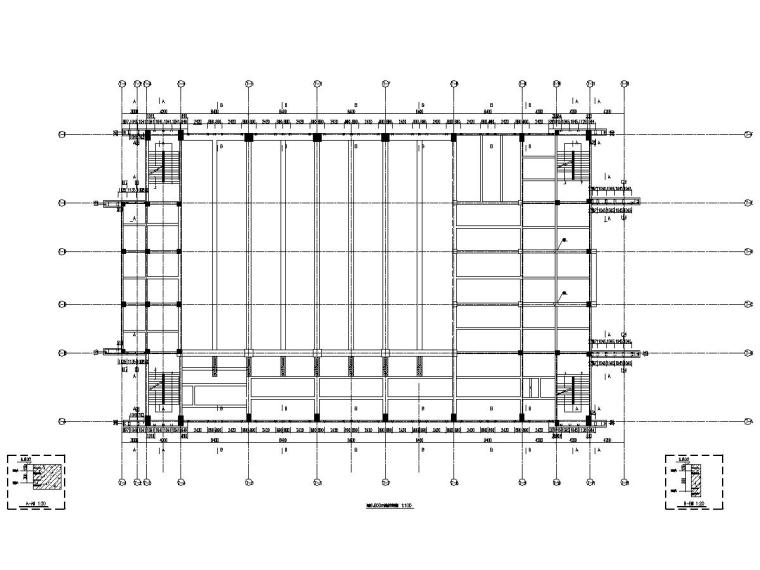 [江苏]地上三层框架结构体育馆铝板幕墙工程施工图