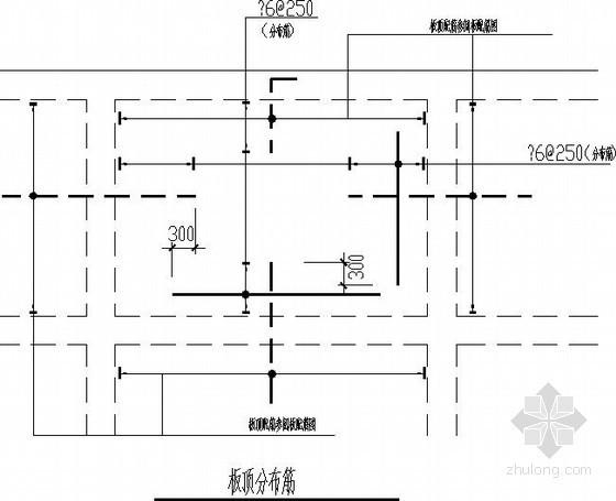 板上开洞挑檐节点构造详图