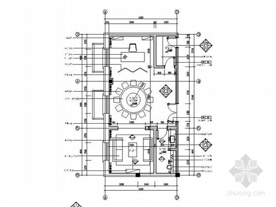 商务会所新古典中式精品包厢装修室内施工图(含效果)
