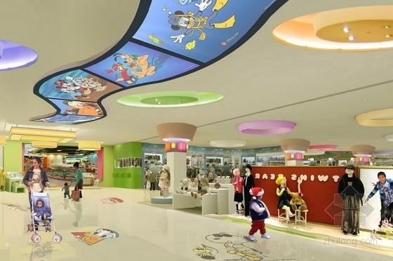 [昆山]繁华商业区现代百货商场室内CAD装修图(含效果)儿童区效果图