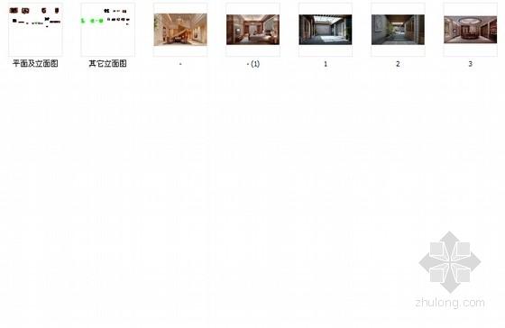 [深圳]四层别墅中欧混搭风格装修图(含效果图) 总缩略图