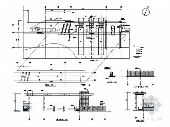 [湖北]物流港多层办公楼建筑施工图-多层不上人屋面办公楼建筑详图