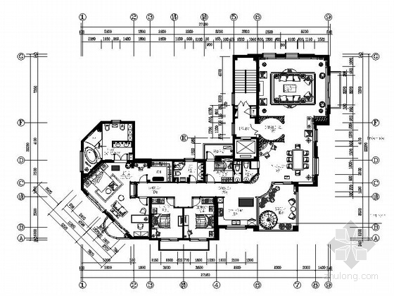 [青岛]现代欧式3居室全套CAD施工图