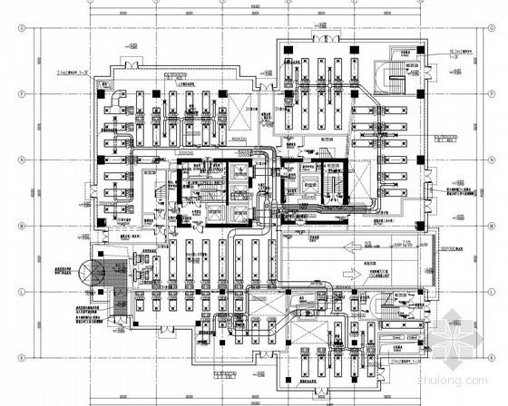 [上海]超高层商业办公楼空调通风及防排烟系统设计施工图(北区大院设计)