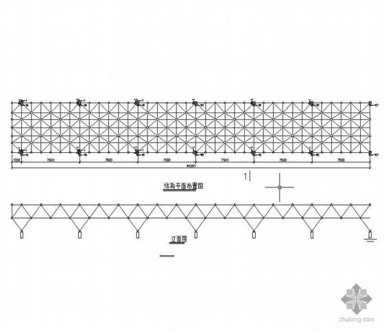 某平板網架結構施工圖