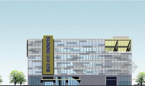 [山东]高层椭圆咬合型精品商业楼建筑设计方案文本-高层椭圆咬合型精品商业楼建筑立面图