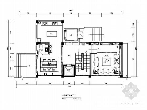 [青岛]中式别墅装修施工图