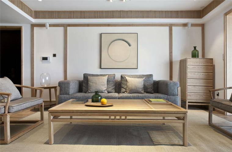 简单自然的中式风格住宅室内实景图